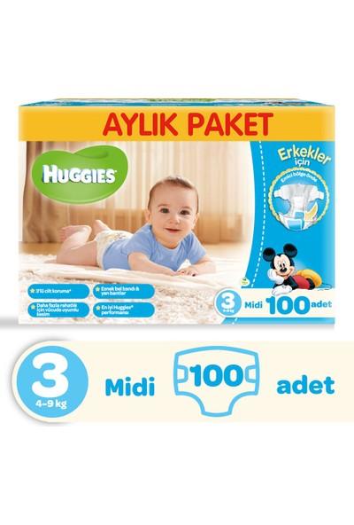 Huggies Oğlum İçin Bebek Bezi Aylık Paket 3 Beden 100 Adet