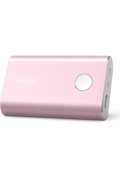 Anker PowerCore+ 10050 mAh Quick Charge 2.0 Taşınabilir Şarj Cihazı PowerBank - Pembe