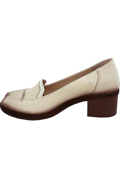 Mammamia D17Ya-745 Deri Kadın Ayakkabı Bej