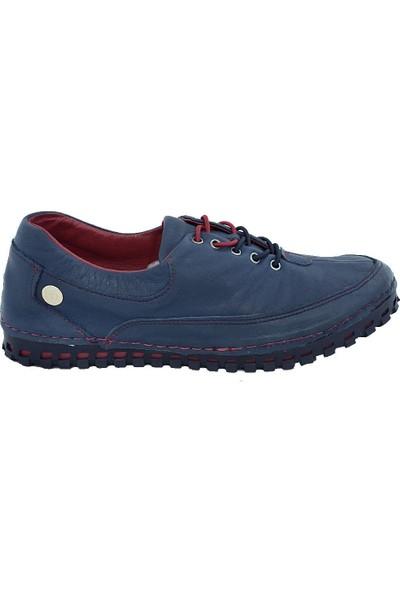 Mammamia D17Ya-770 Deri Kadın Ayakkabı Mavi