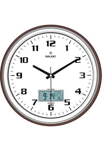 Galaxy T-1971-X Dijital Termometre Takvim 35Cm Duvar Saati