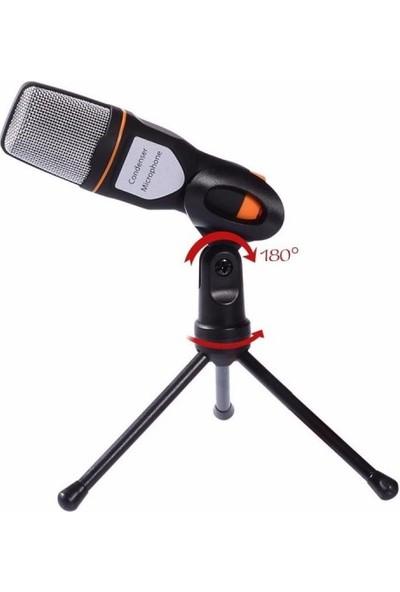 Azemax Masa Üstü Siyah Mikrofon Sf666S
