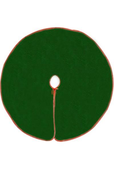 Kostümce Yeşil Renk Yılbaşı Çam Ağacı Altlığı