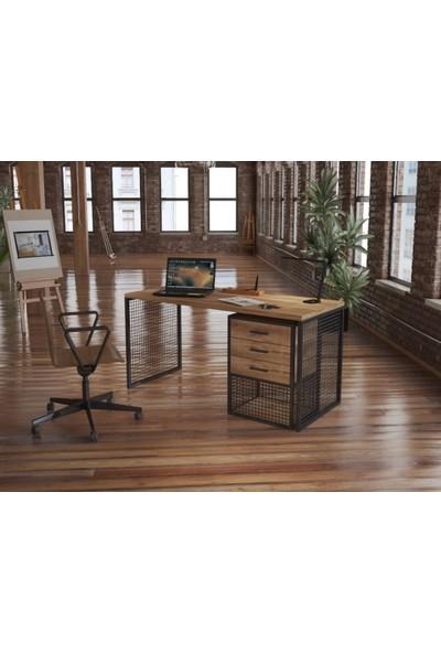 Endüstriyel Mobilya Buğday Masif Çalışma Masası 150 cm