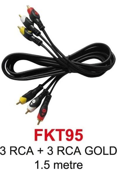 3Rca 3Rca Gold Görüntü Ve Ses Kablosu 1,5 Metre