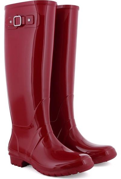 Igor W10132 -F41 Kırmızı Kadın Yağmur Çizmesi