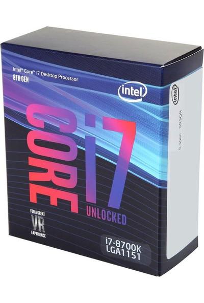 Intel Core i7-8700K Soket 1151 3.7GHz İşlemci