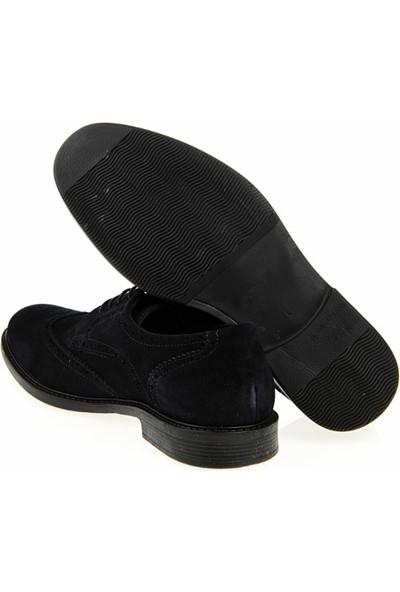 Crash 03-100 Lacivert Süet Deri Günlük Erkek Ayakkabı