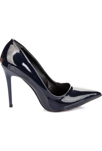 Pembe Potin Lacivert Rugan Ayakkabı