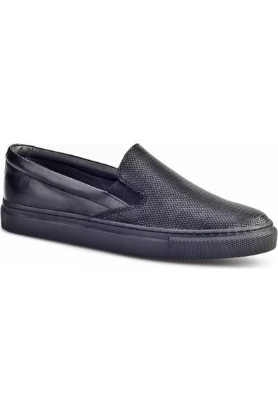 Cabani Bağcıksız Sneaker Kadın Ayakkabı Siyah Deri