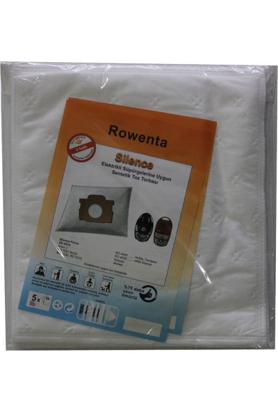 Rowenta RO 4233 Elektrikli Süpürge Uyumlu Sentetik Toz Torbası