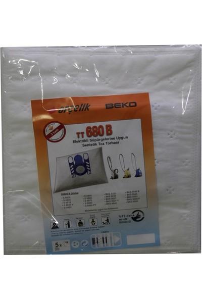 Arçelik 6810 Y Elektrikli Süpürgeye Uygun Sentetik Toz Torbası