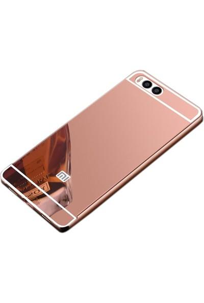 Sonmodashop Xiaomi Mi 6 Metal Aynalı Kılıf + Cam