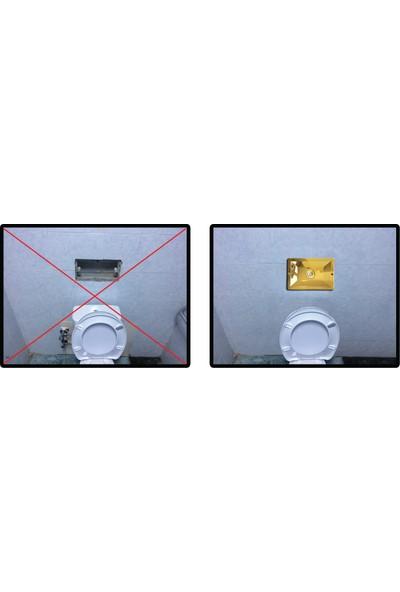 SIAMP®MANNESMANN Gömme Rezervuarı Universal Değişim/Tamir Takımı Altın 8 cm Kalınlığında (Tüm Markalara Uygumlu)