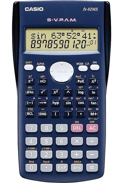 Casio FX-82MS 10+2 Hane Bilimsel Fonksiyonlu Hesap Makinesi