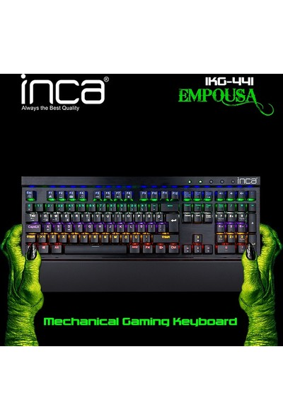 Inca Empouse IKG-441 Mekanik Blue Switch Led Oyuncu klavye