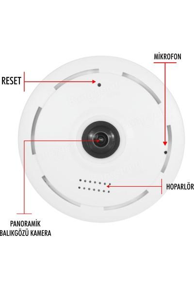 Taipien As-3601 Panoramik Kamera 1080P, 360/180˚ P2P, Kayıt, Alarm, Wıfı, Kamera