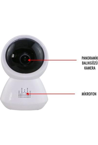 Taipien As-1803 Panoramik Stand Kamera 1080P, 180˚ P2P, Kayıt, Alarm, Wıfı