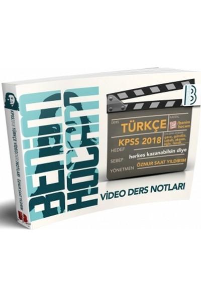 Benim Hocam Yayınları 2018 KPSS Türkçe Video Ders Notları
