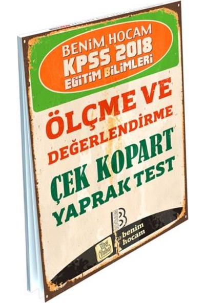 Benim Hocam Yayınları 2018 KPSS Eğitim Bilimleri Ölçme ve Değerlendirme Çek Kopart Yaprak Test
