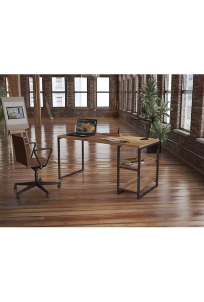 Endüstriyel Mobilya Kızılcık Masif Çalışma Masası 150 cm