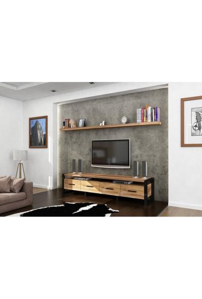 Endustriyel Mobilya Çınar TV Ünitesi 220 cm