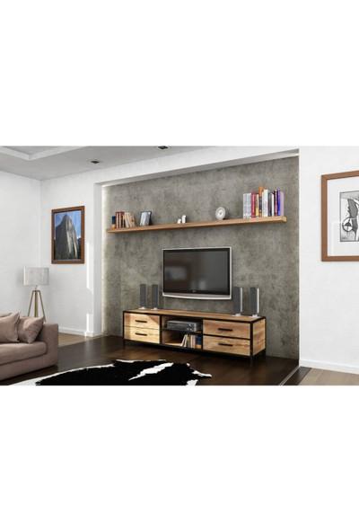 Endustriyel Mobilya Kumul TV Ünitesi 180 cm