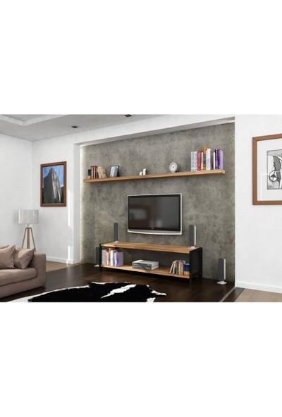 Endustriyel Mobilya Ladin TV Ünitesi 160 cm