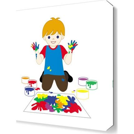 Dekor Sevgisi Boyama Yapan çocuk Tablosu 50x50 Cm Fiyatı