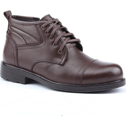 Jump 14518-K %100 Deri Kürklü Günlük Termo Taban Erkek Bot Ayakkabı