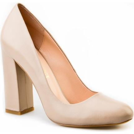 Cabani Topuklu  Kadın Ayakkabı Vizon Deri