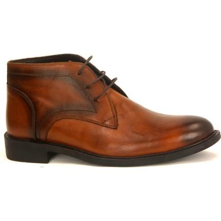 Fecri Hüner 104 Taba %100 Deri Kışlık Erkek Bot Ayakkabı