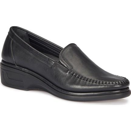 Polaris 5 Nokta 72.110075.z Siyah Kadın Deri Ayakkabı