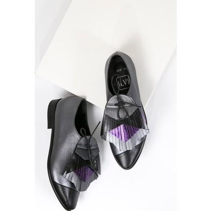 İlvi Kleop 292 Füme Oxford Kadın Günlük Ayakkabı