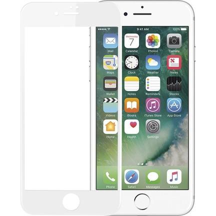 Microsonic Phone 7 Plus 3D Kavisli Temperli Cam Full Ekran Koruyucu Film Beyaz