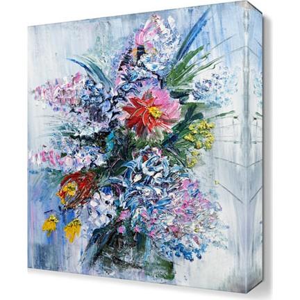 Dekor Sevgisi Saksı çiçekleri Yağlı Boya Tablosu 45x30 Cm Fiyatı