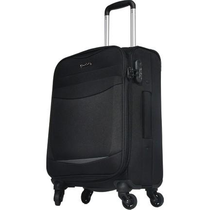 781a8597e917d Pierre Cardin Kumaş Valiz Kabin Boy Siyah 2300 Fiyatı