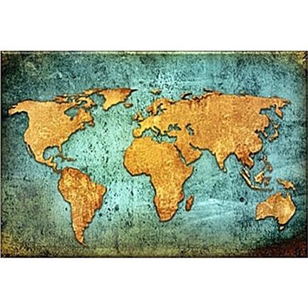 Arte Dünya Haritası Kanvas Tablo Fiyatı Taksit Seçenekleri