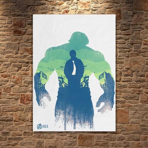 Albitablo Poster Love Marvel Hulk Kanvas Tablo