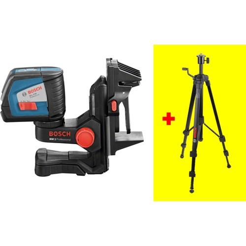 Bosch GLL 2-50 Çapraz Çizgili Nivelman Lazer + BM1 Mıknatıslı Sabitleme Aparatı + Tripod Ayak Hediyeli!
