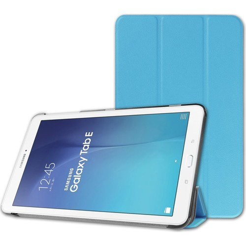 Samsung Galaxy Tab E T560 Standlı Kılıf Mor (Smart Case)