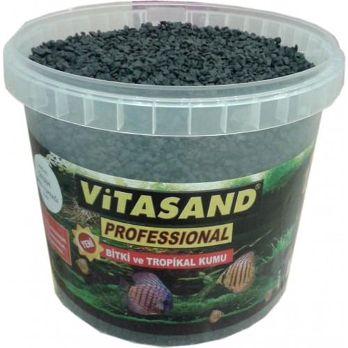 Vitasand Pro-91 Yıkanmış Akvaryum Bitki Kumu Siyah 20kg