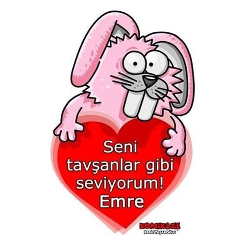 BuldumBuldum Erdil Yaşaroğlu Tavşanlar Gibi Seviyorum Ürünleri - Ahşap Duvar Saati