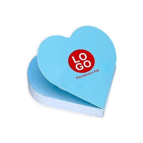 BuldumBuldum Kalp Şekilli Yapışkanlı Not Kağıtları Yazılı Ve Logolu Model
