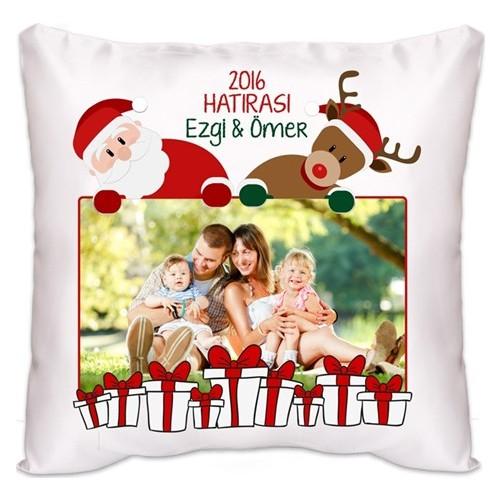 BuldumBuldum Noel Baba Ve Geyik Kare Yastık