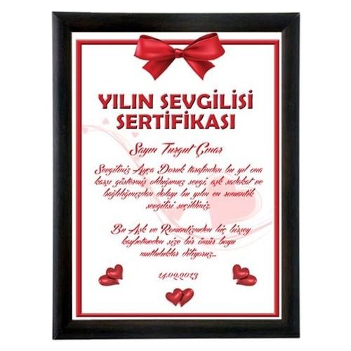 BuldumBuldum Sevgililer Gününe Özel Yılın Sevgilisi Sertifikası