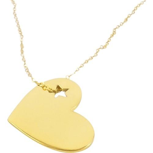 Crystal Baby Gümüş Özel Tasarım Yıldızlı Kalp Kolyesi