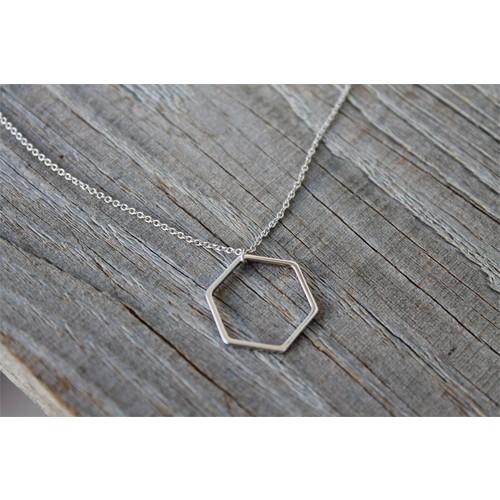 Crystal Baby Gümüş Özel Tasarım Geometrik Şekil Kolye