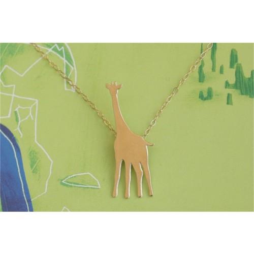 Crystal Baby Gümüş Özel Tasarım Zürafa Kolyesi