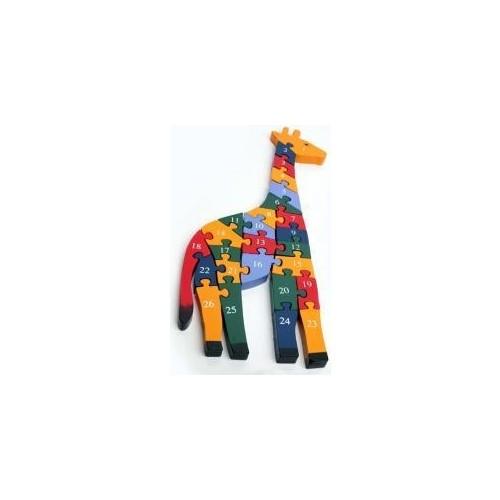 Blueway Ahşap Zürafa 3D Puzzle - Eğitici Çocuk Oyunu